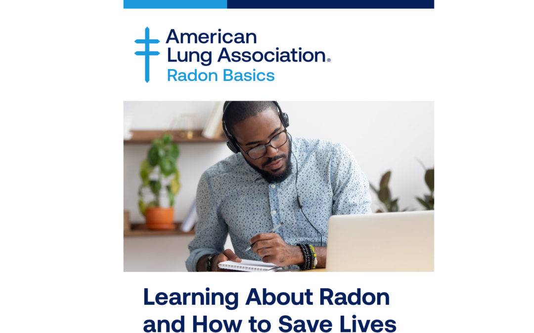 Announcement of Lung Association's Radon Basics Online Training Program